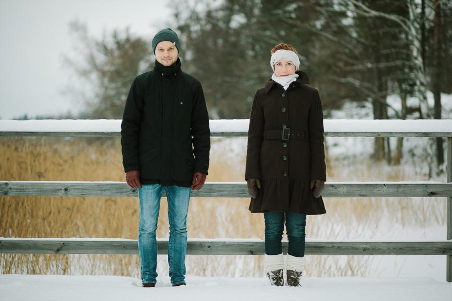 Porträttfotograf i Västerås Linn & David på Björnön