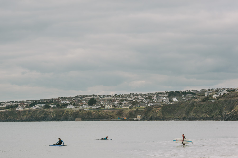 Surfers testing the waves