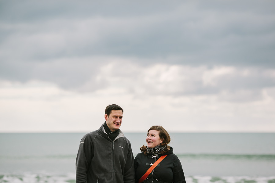Couple on the promenade in Tramore