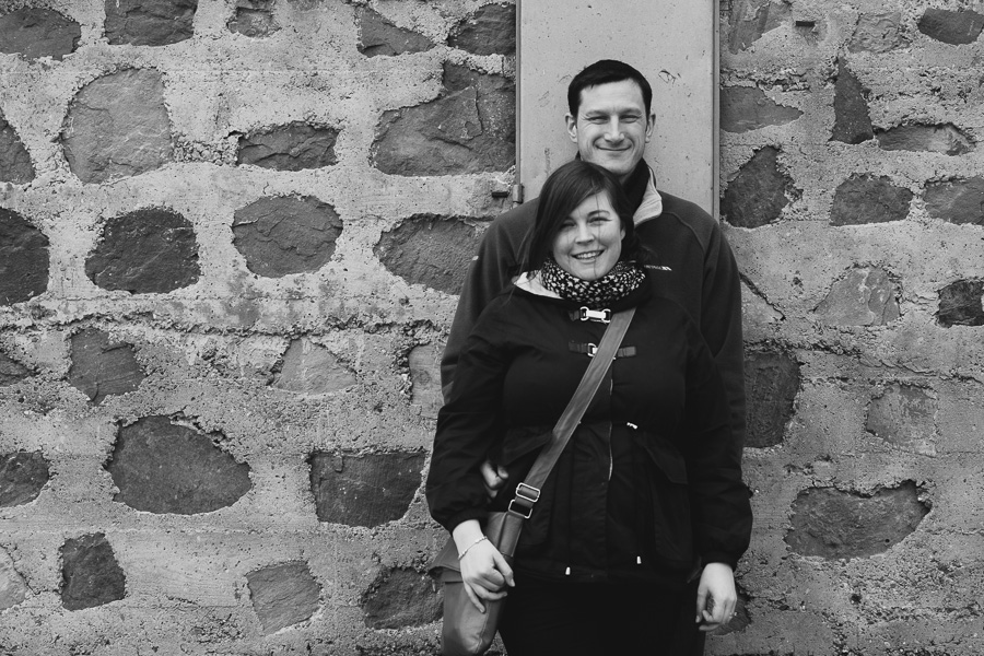 Tramore Engagement photographer portraits by the shack