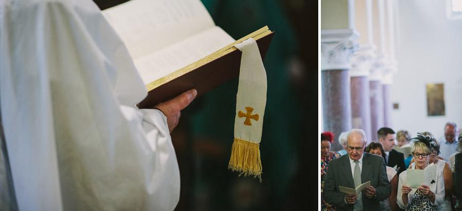 Reading prayers in Abbeystrewry Chruch wedding