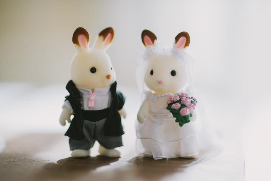 Bride Groom Sylvanian Families rabbits