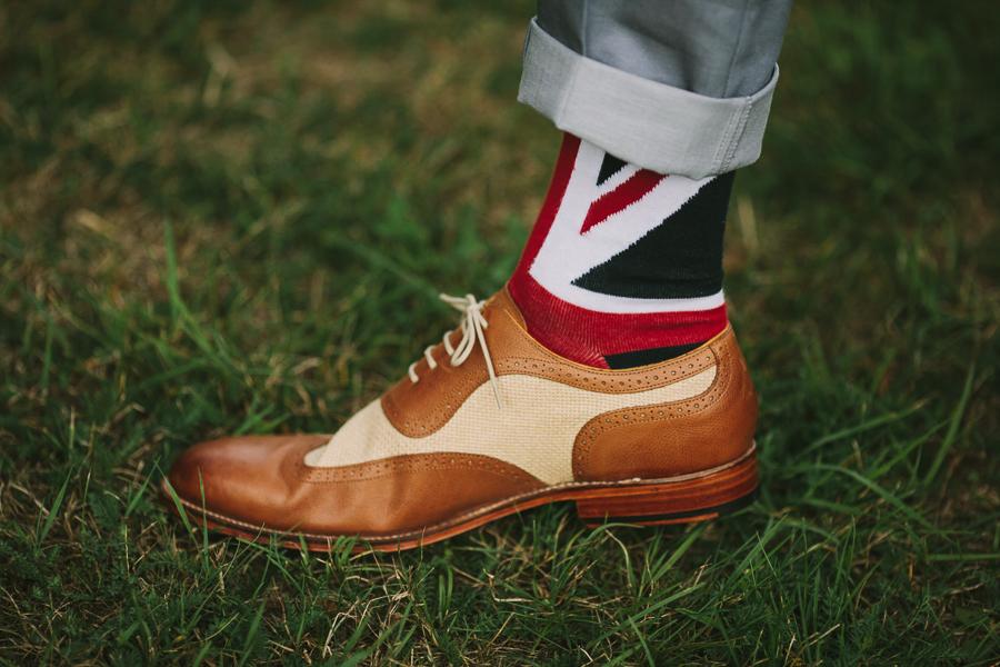 Brogues Union Jack socks