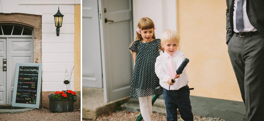 Bröllopsschema och barn på gång