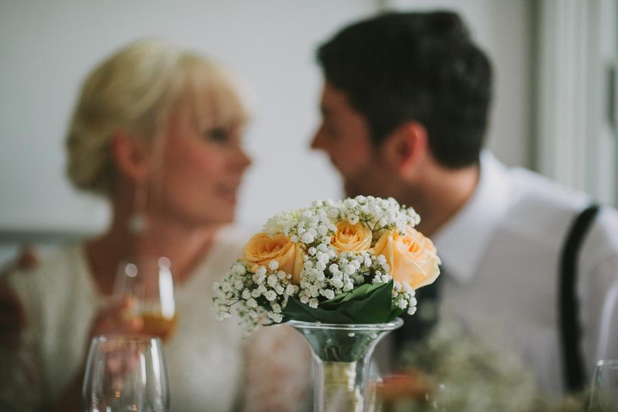 Brudparet vid honnörsbordet