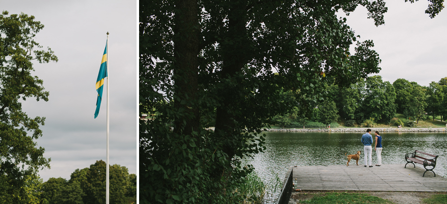 Vid vattnet nedanför Rosendals Slott
