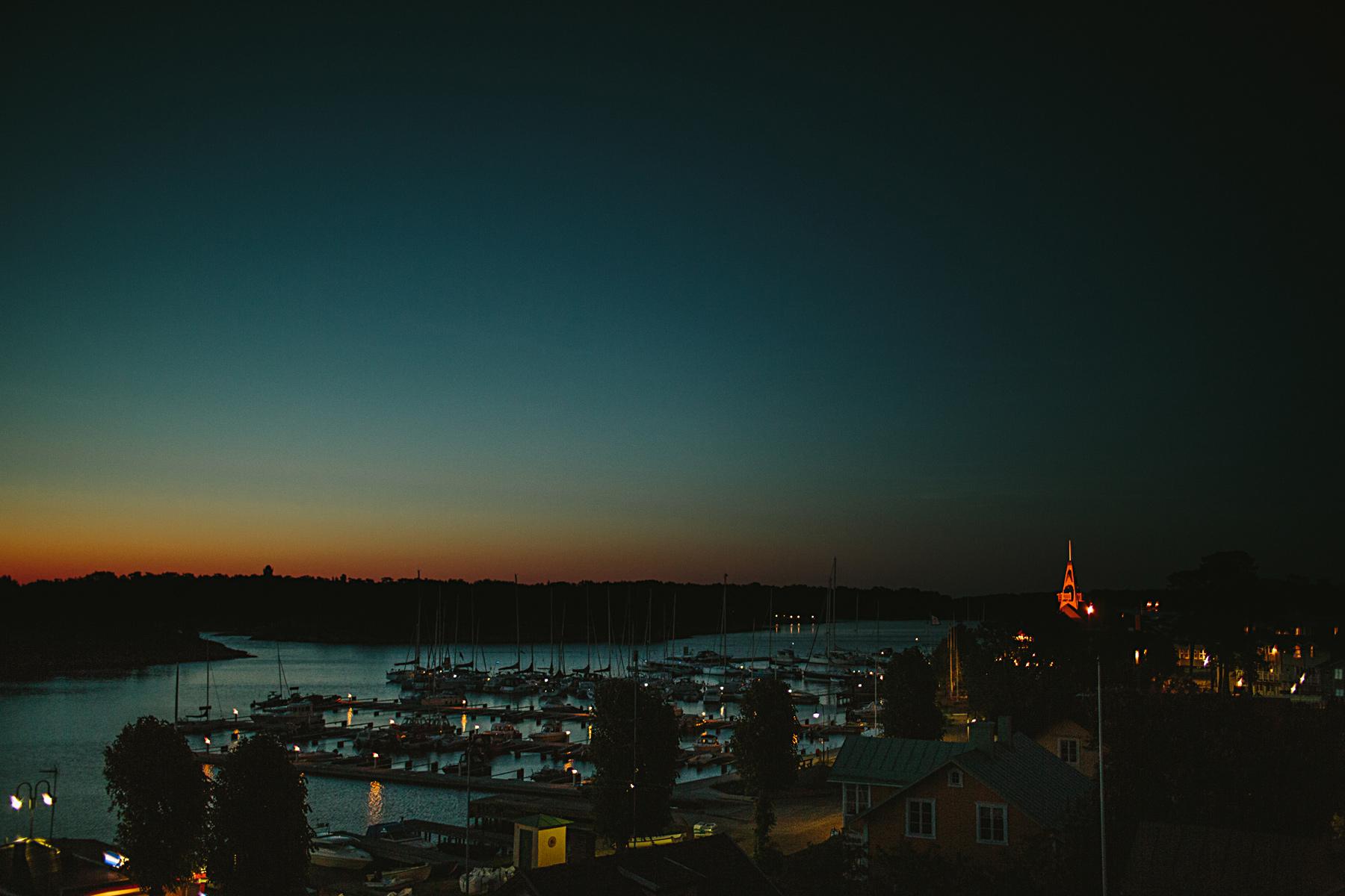 utsikt över sandhamn