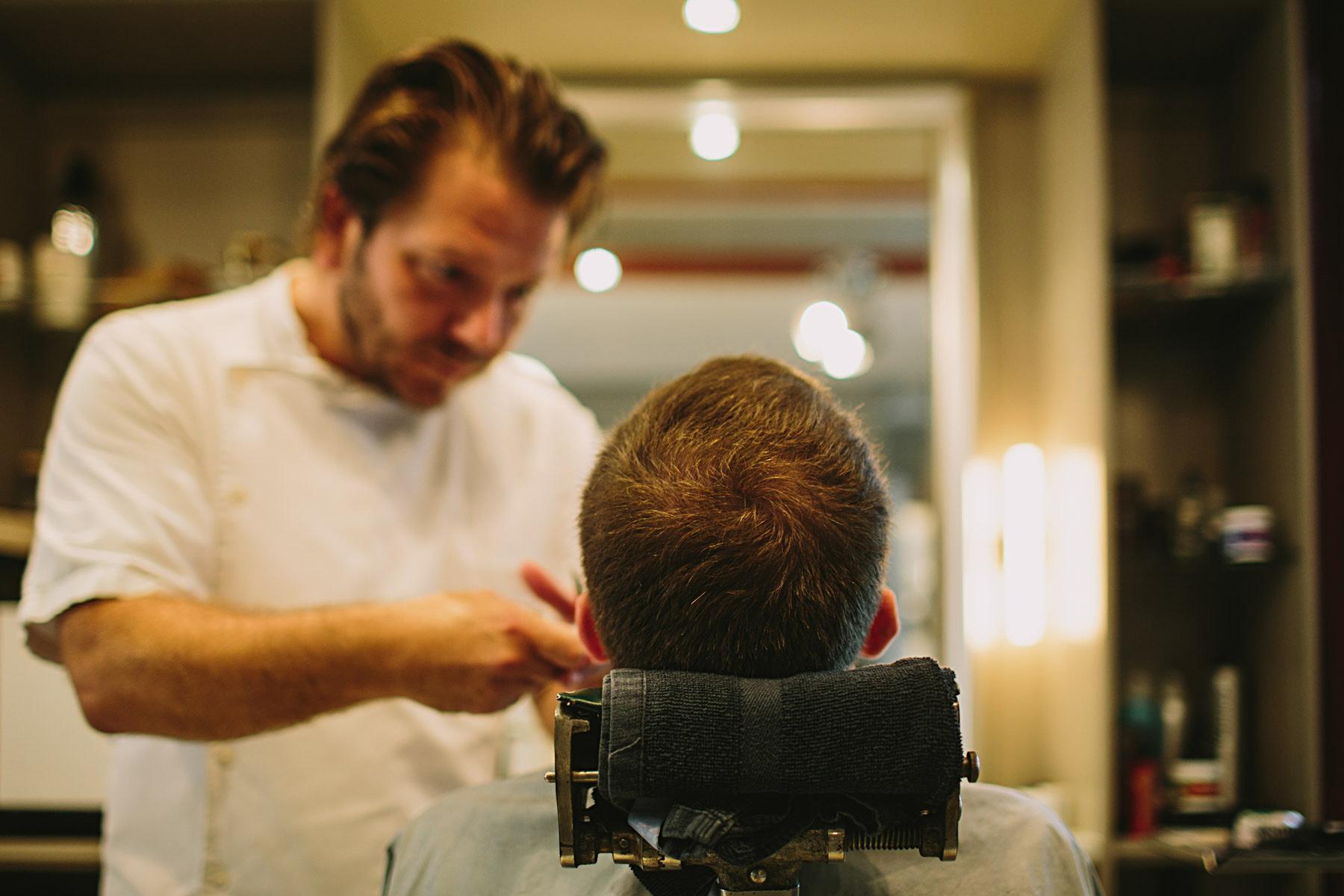 hos barberaren innan bröllop