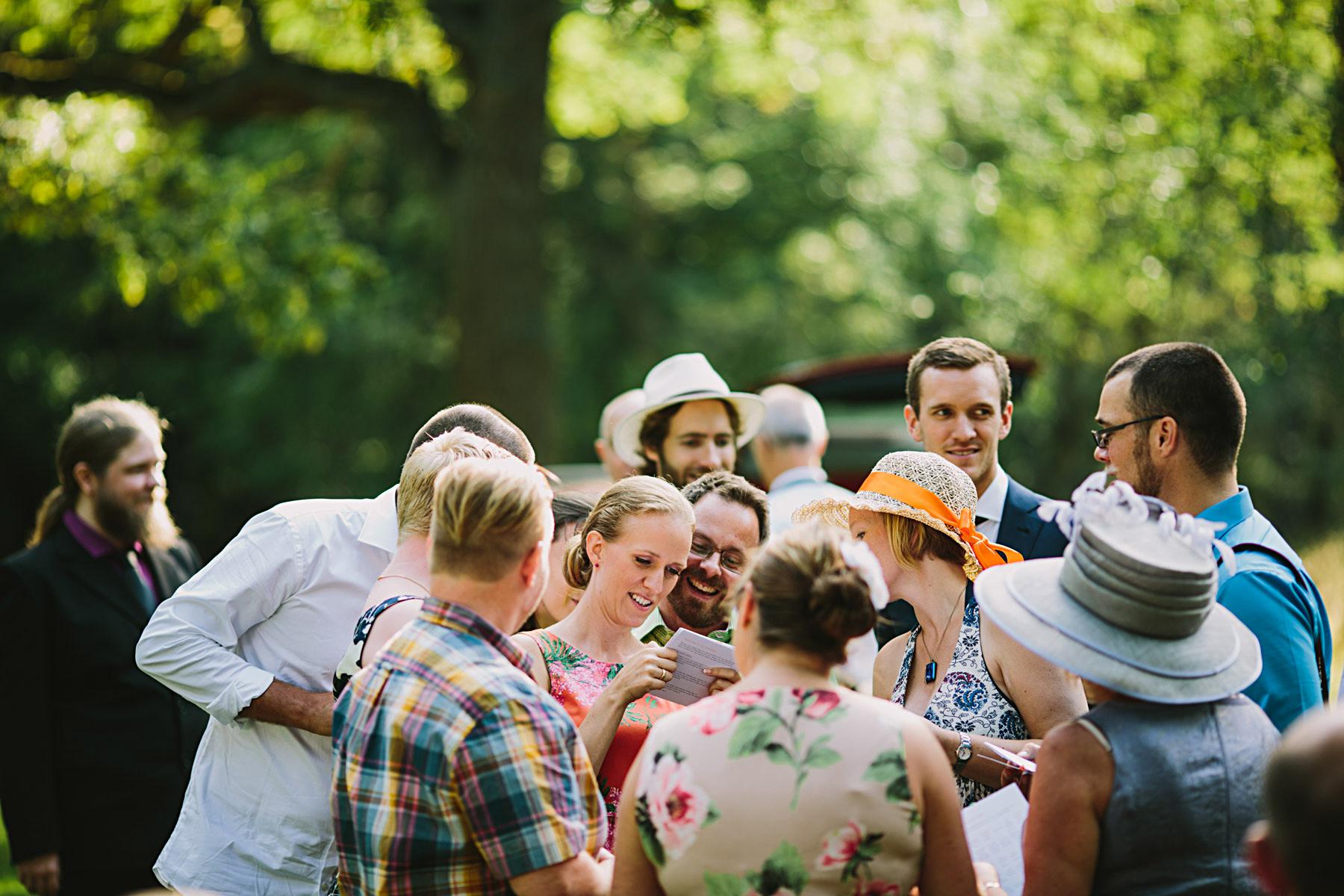 bröllopsbingo avgjort redan på eftermiddagen