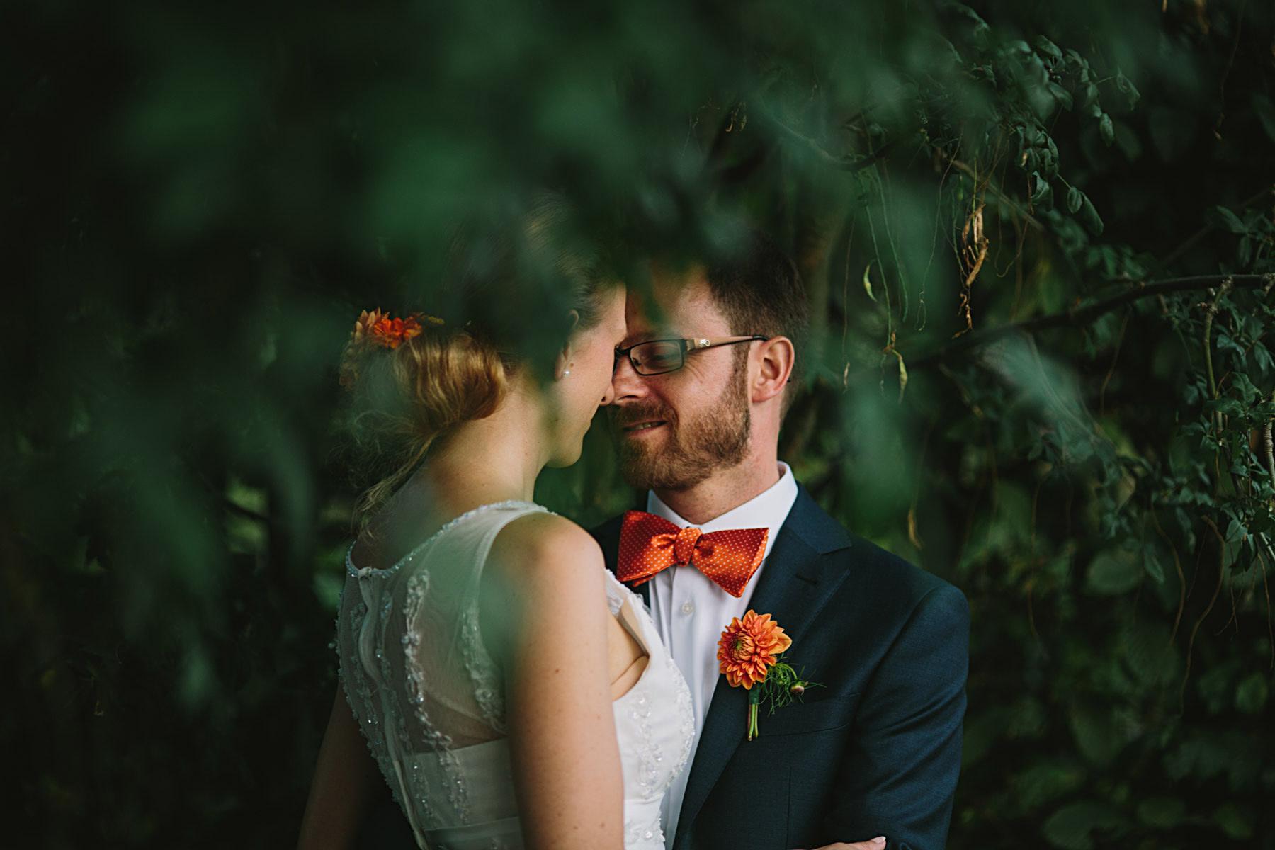 Bröllopsfotograf Rosendal Trädgård Intimt porträtt