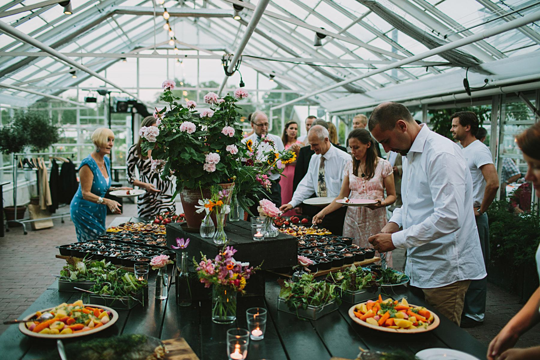 bröllopsbuffe rosendals trädgård