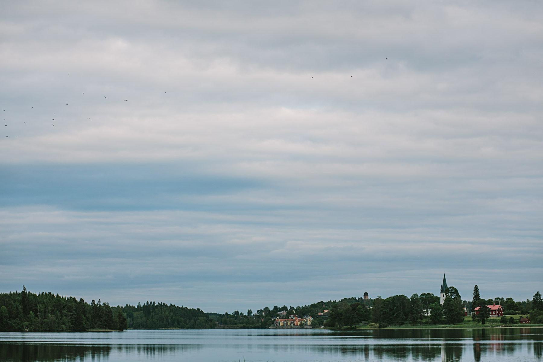 kvällsvy över Frösjön gnesta