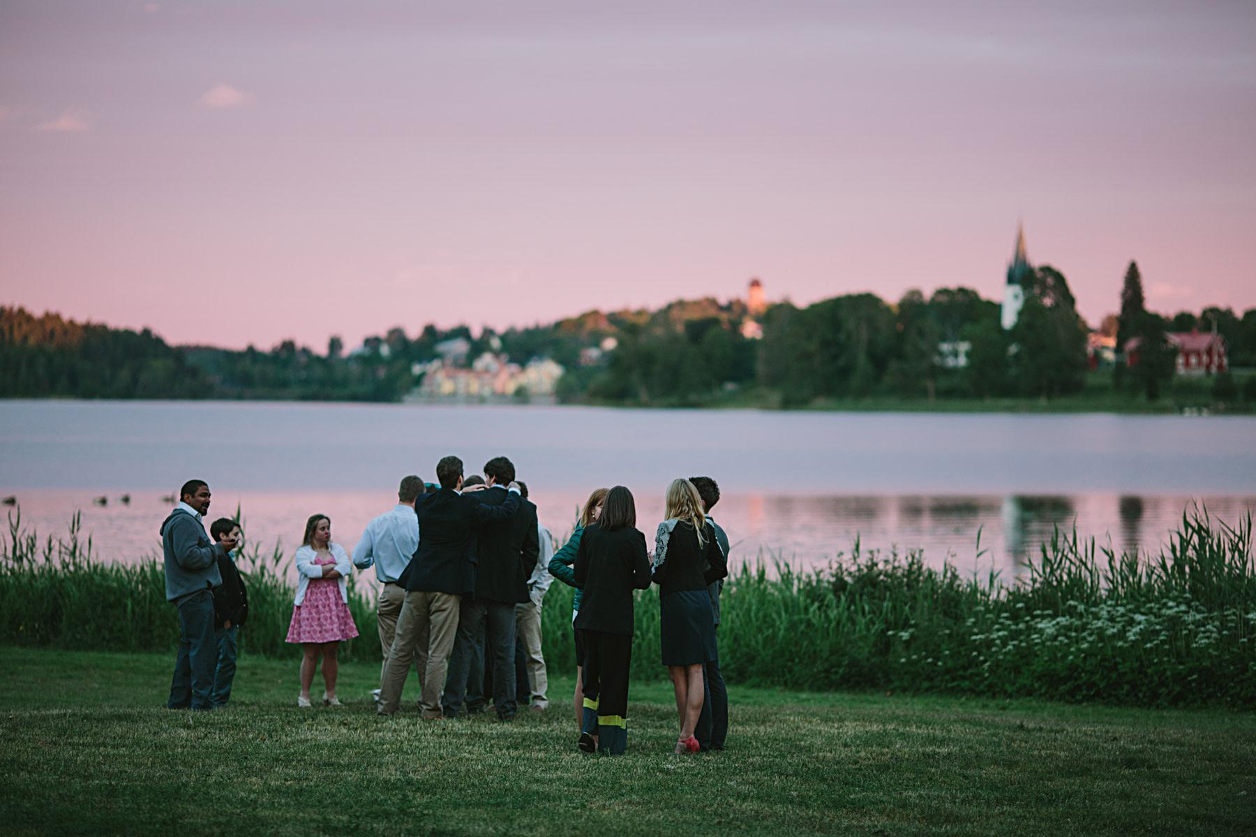 solnedgang över Frösjön