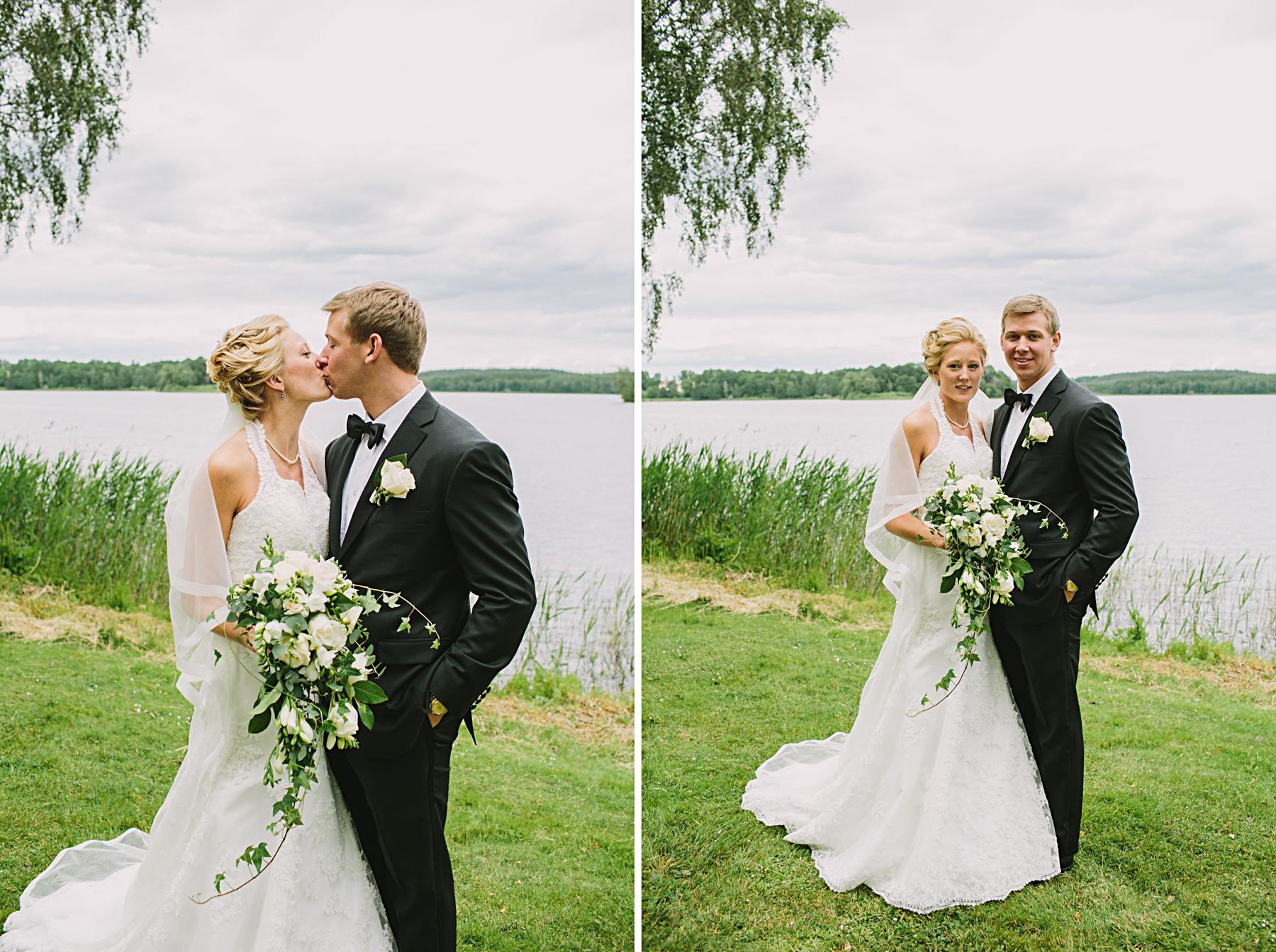 Bröllopsporträtt vid Frösjön