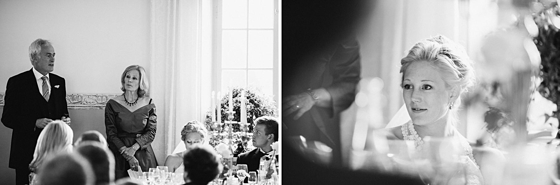 Brudens far håller tal