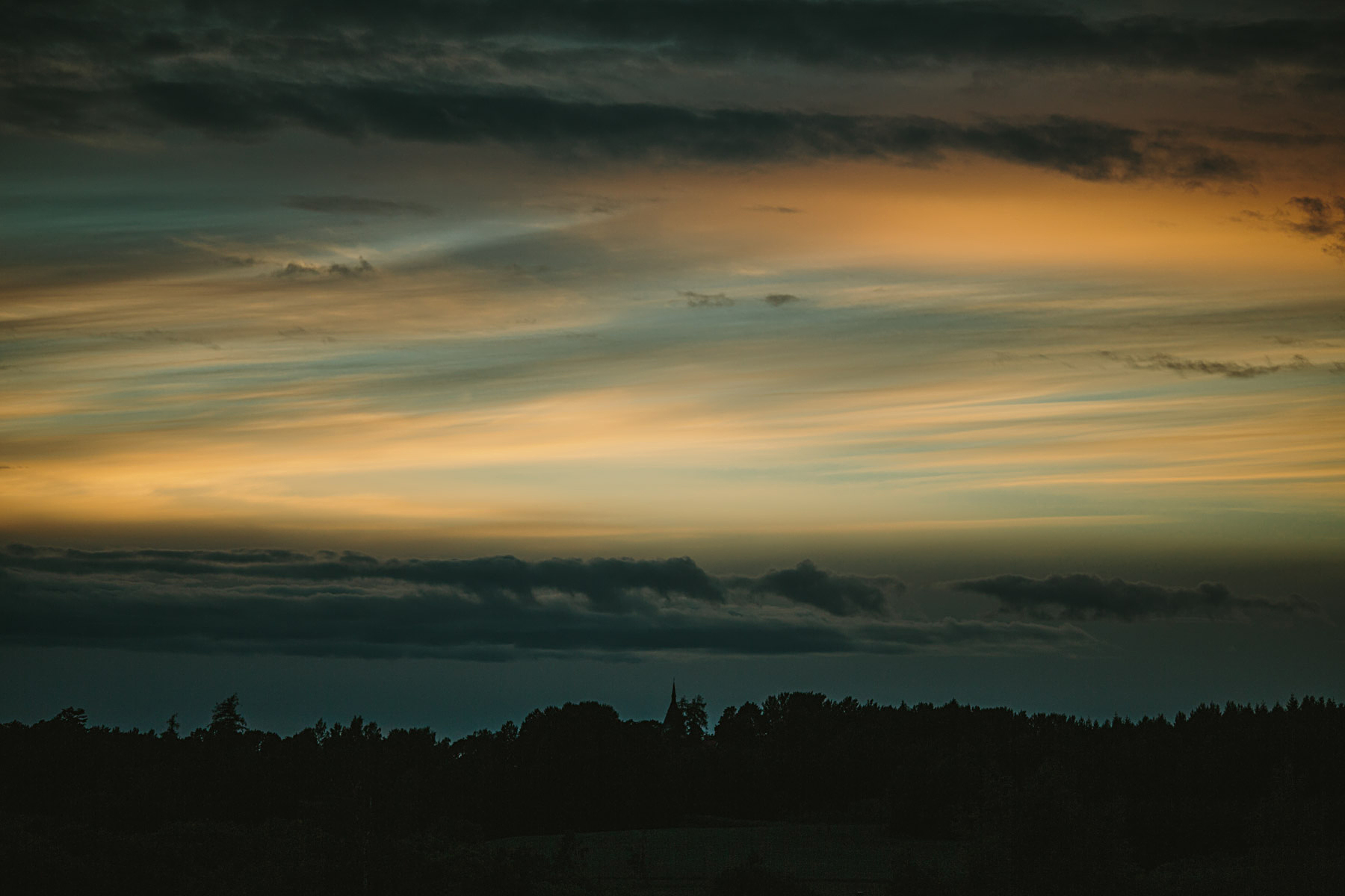 Solnedgång i Gnesta