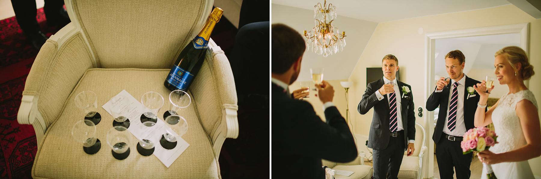 Champagne i plastglas