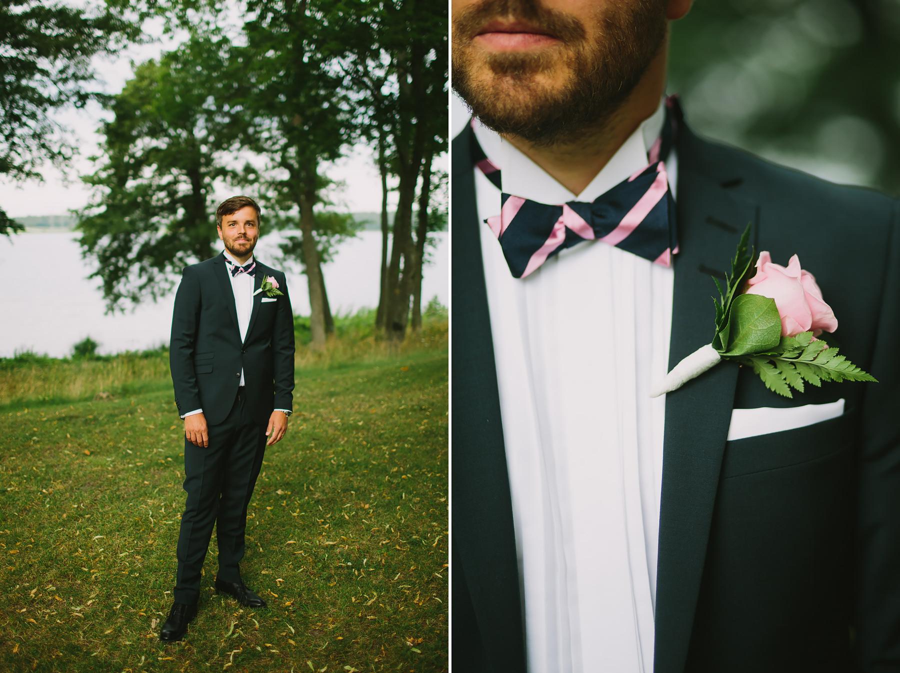 Brudgum med corsage