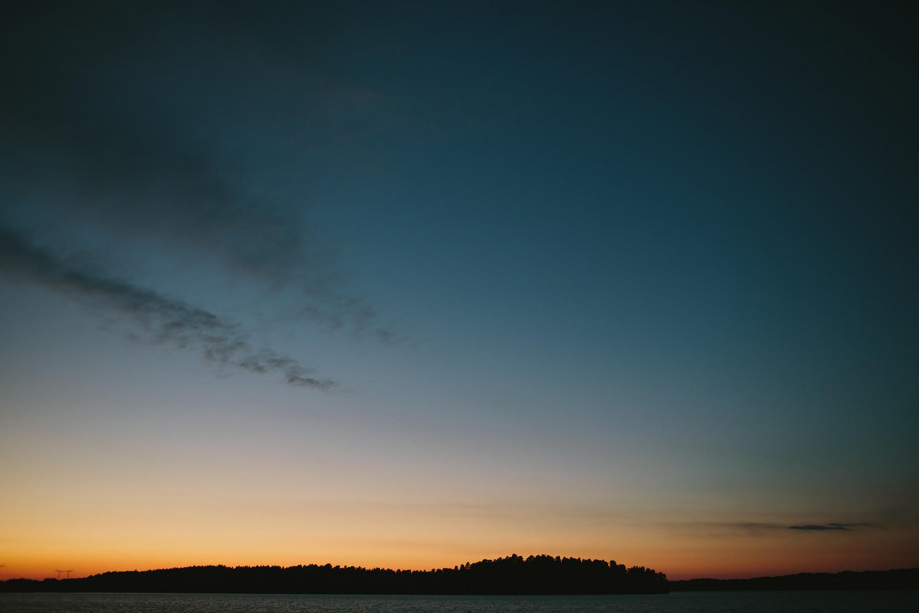Solnedgång över mälaren