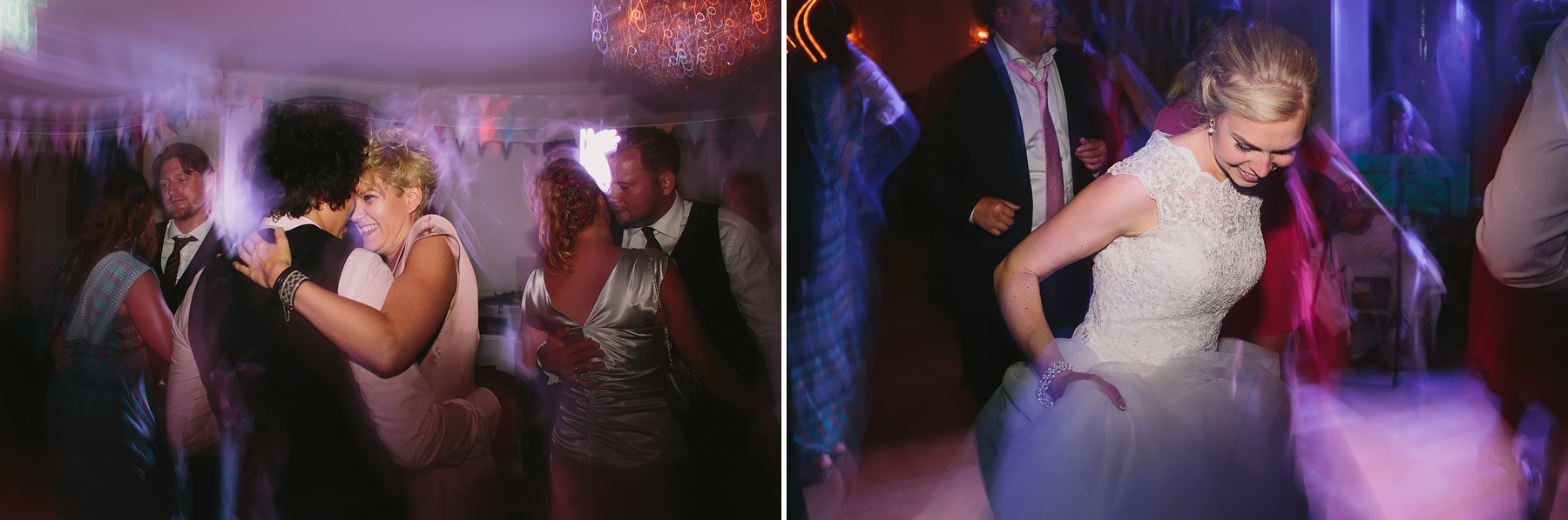 Vild dans på dansgolvet