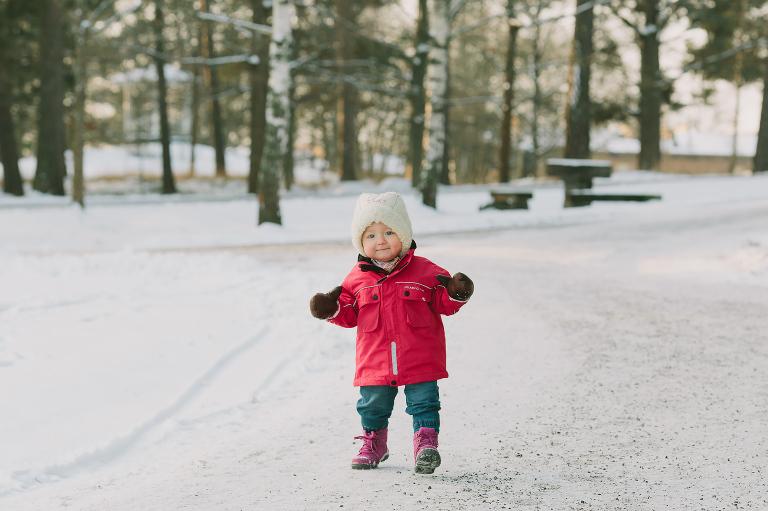 Klaras första vinterpromenad