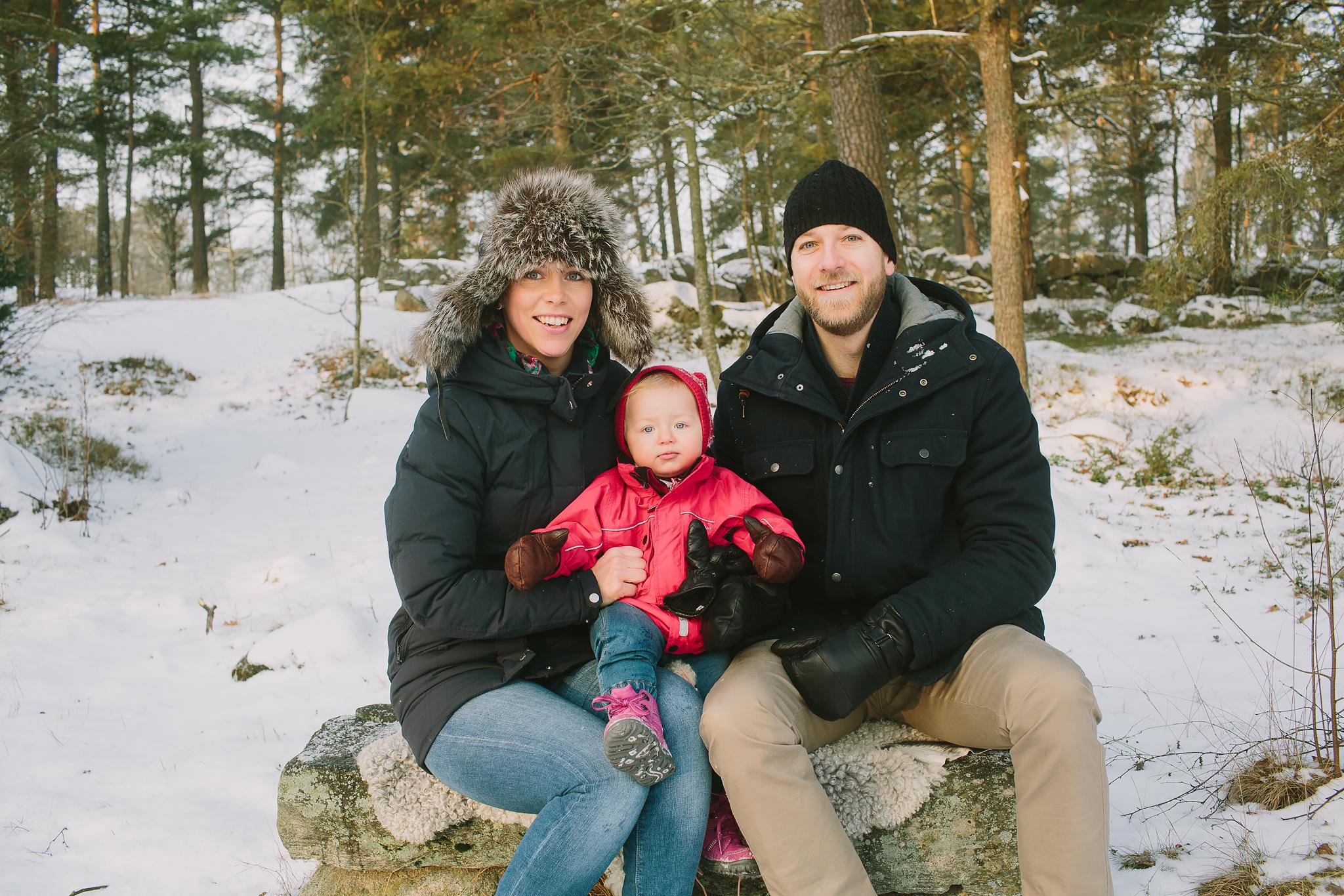 Familjebild på Djäkneberget i Västerås