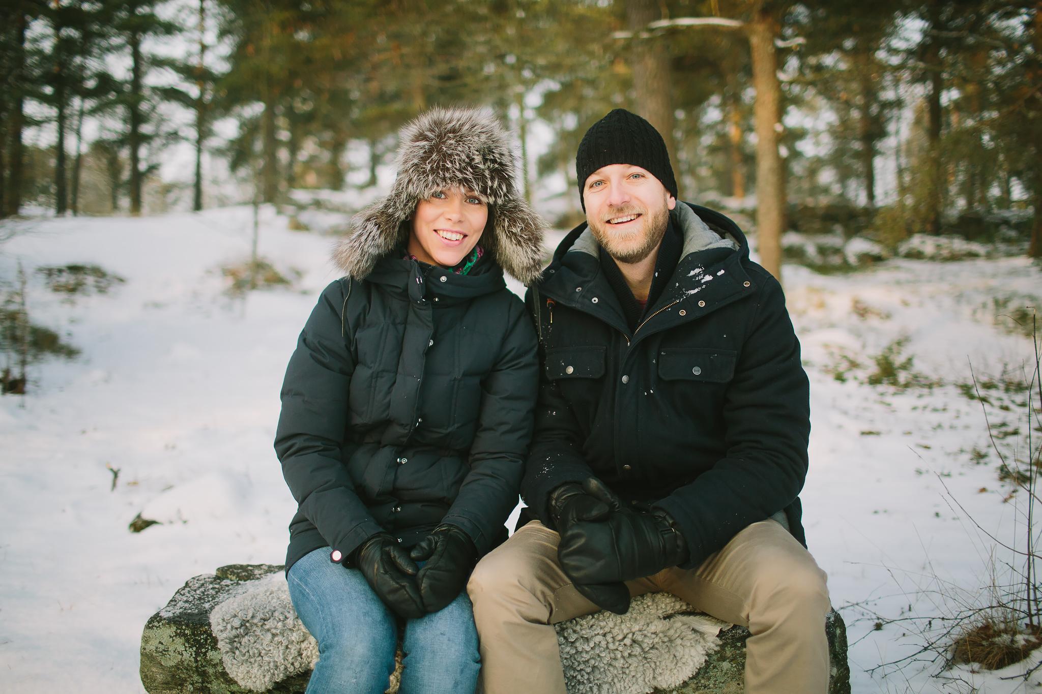 Parbilder på vintern