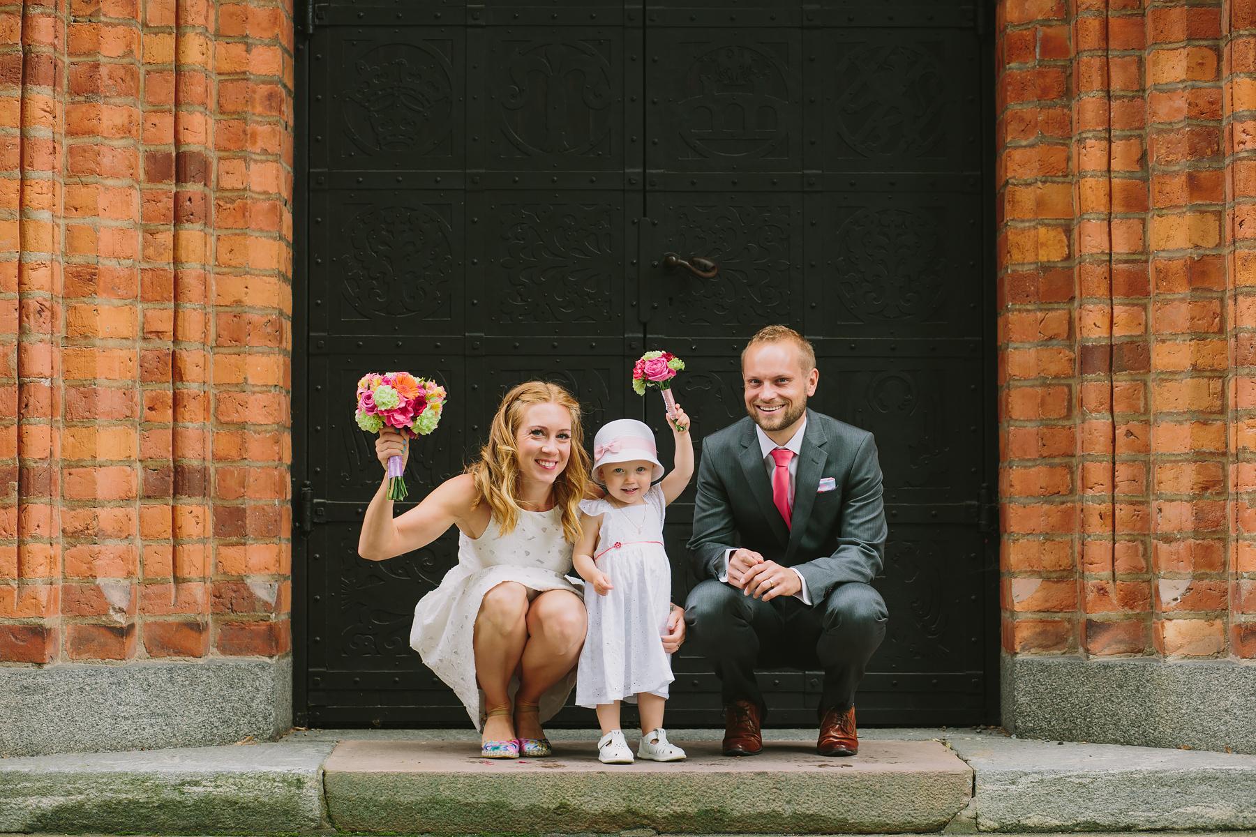 Bröllopsfotograf Västerås familjebild vid bröllop