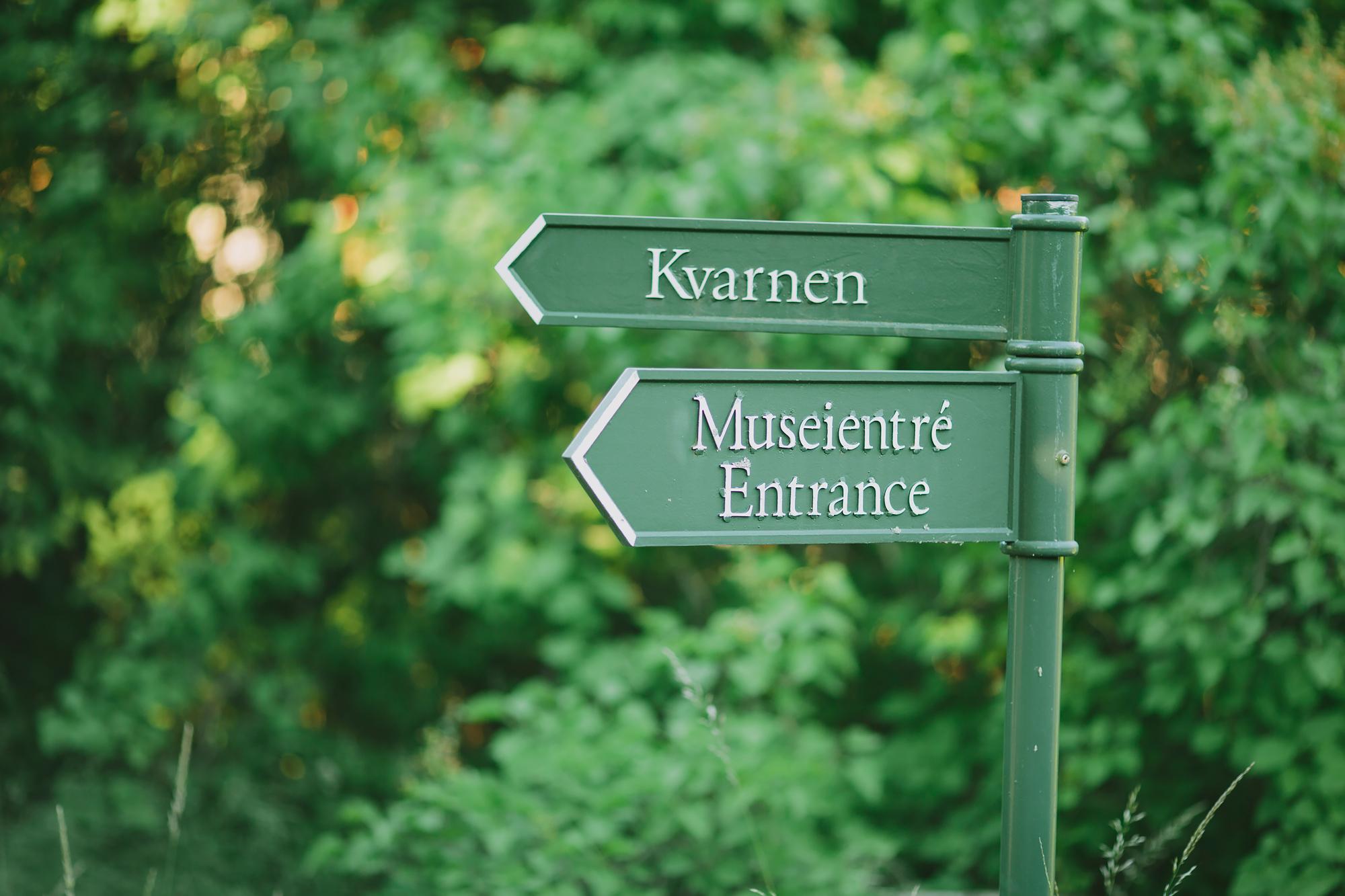 Entreskylt till museum Waldemarsudde