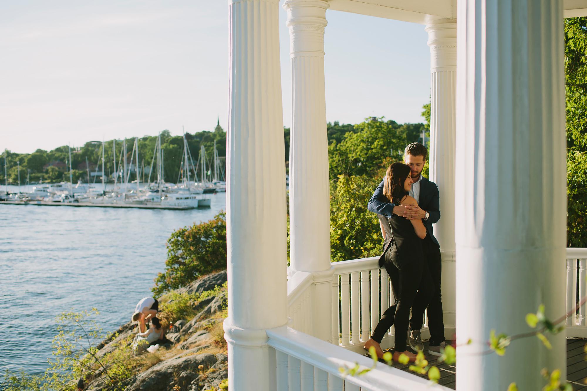 Bröllopsfotograf Stockholm parfoto lusthus Waldemarsudde