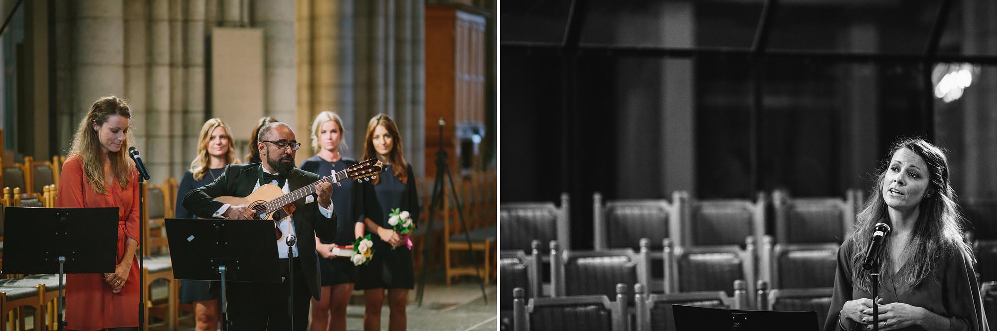 musiker spelar halleluja med jeff buckley vid bröllop