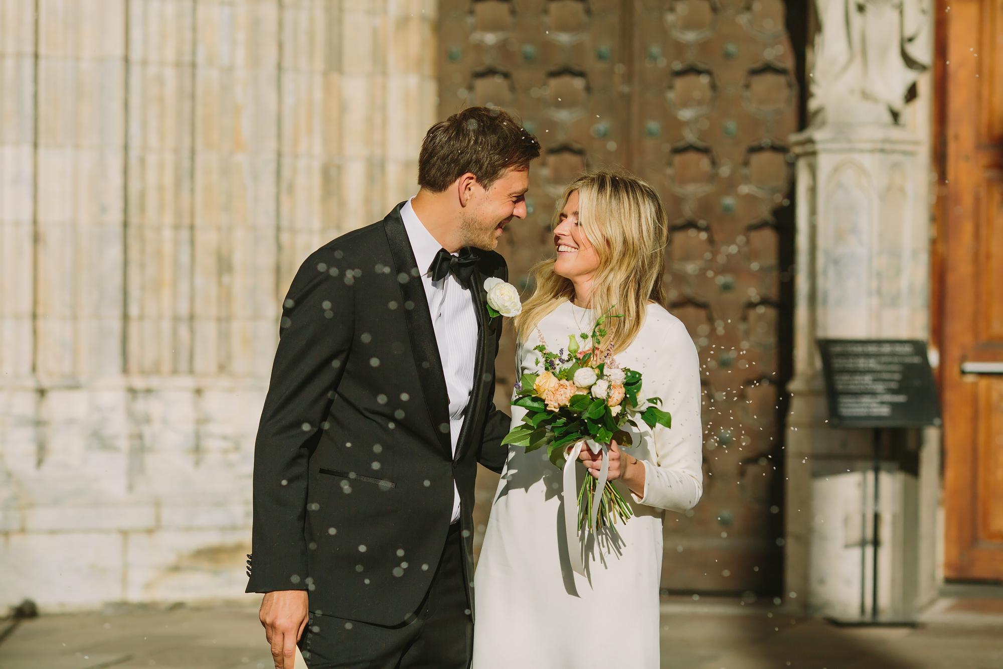 riskastning under bröllop