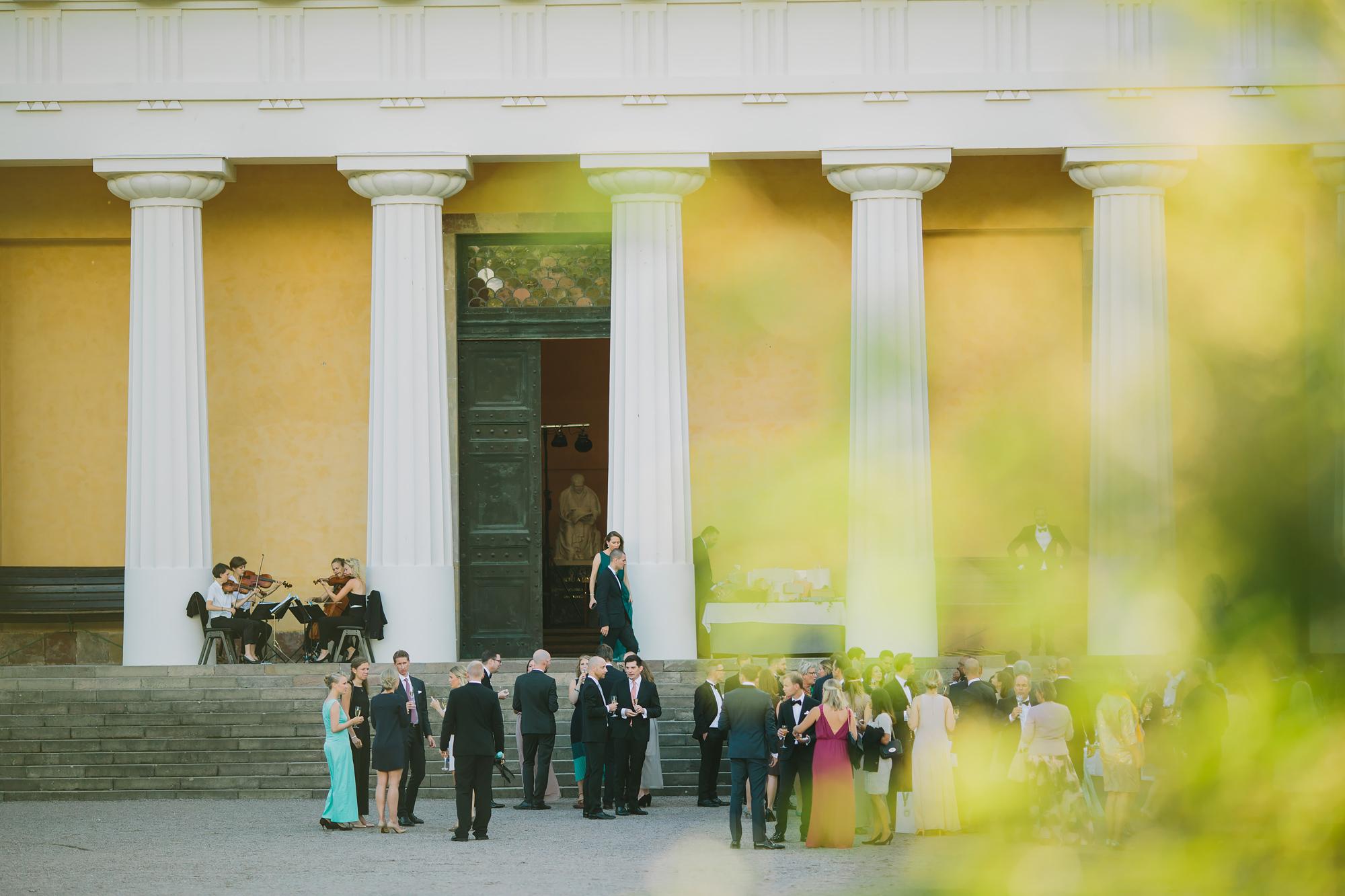 bröllopsmingel vid orangeriet