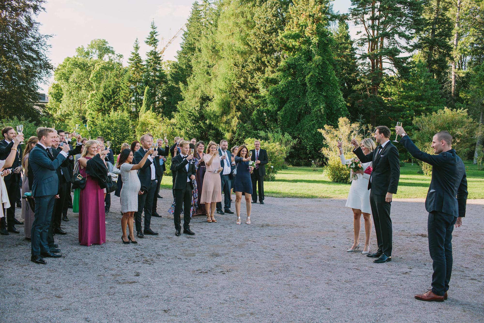 brudskålen i slottsparken i Uppsala