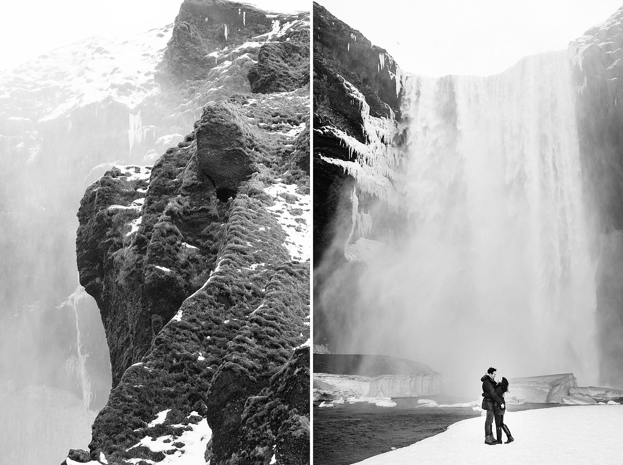 Bröllopsfotograf Reykjavik Island Godafoss vattenfall